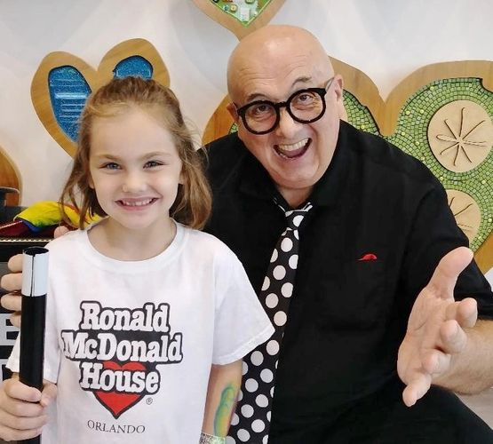 Steve Hart entertaining at the Ronald McDonald House