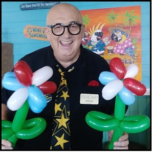 Steve Hart and balloon flowers