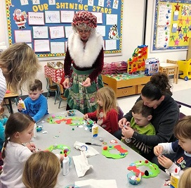 Mrs Claus arts & crafts with children