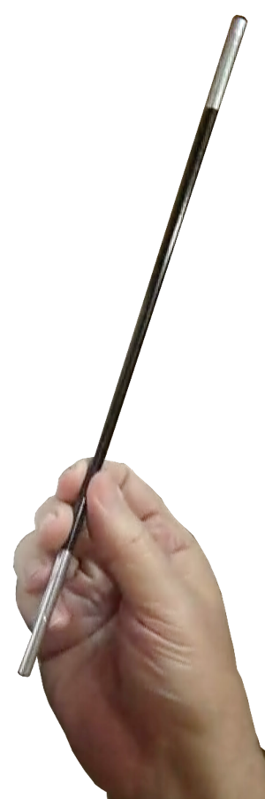 Hand holding magic wand